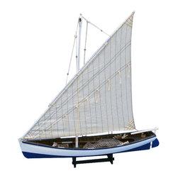 "Handcrafted Model Ships - Summer Wind 28"" - Wooden Model Fishing Boat - Not a model ship kit"