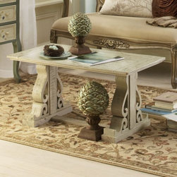 Coffee Table, Architectural - New Orleans is a city of historical architectural details. This coffee table evokes that.