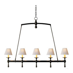 Classic Linear Chandelier - A linear chandelier is a perfect solution for a space that's all about clean, parallel lines. Don't break up the geometry with a round chandelier by going with one like this instead.