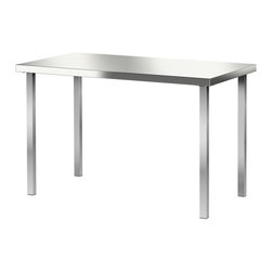 SANFRID/GODVIN Table - IKEA - Stainless steel; gives a strong and durable surface that is easy to keep clean.