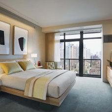 Contemporary Bedroom by Robert Kaner Interior Design