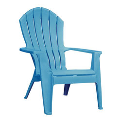 Adams Adirondack Stacking Chair, Pool Blue - Gather several of these inexpensive plastic Adirondack chairs around the fire for a beach bonfire vibe.