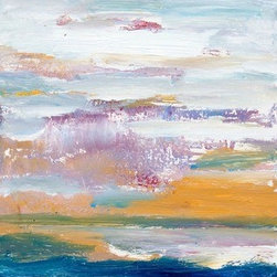 Dialogue With Nature Ii (Original) by Sirarpi Heghinian-Walzer - Dialogue with Nature is an abstract landscape painting, mixed media of oil and acrylic on board.