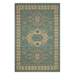 """Trans-Ocean - Kilim Ocean Rugs 8550/04 - 23""""X7'6"""" - Amazingly detailed pattern and beautifully blended yarns make this Machine Made rug rise above the rest.Wilton Woven in India of 100% Polypropylene and UV stabilized for Indoor or Outdoor use.A tight weave of Polypropylene allows for maximum design and textural appeal, and creates the look of natural fibers but is easy care."""