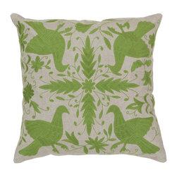 "Surya - Surya 18 x 18 Decorative Pillow, Oatmeal and Peridot (LD018-1818P) - Surya LD018-1818P 18"" x 18"" Decorative Pillow, Oatmeal and Peridot"