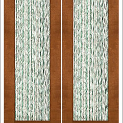 """AAW Inc. - Contemporary Entry Door Model NW-1692 - Model NW-1692 from our New World Collection. Door is solid Mahogany, 2-1/4"""" thick with clear or matte low-E glass."""