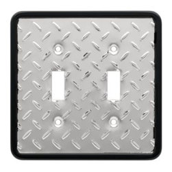 Liberty Hardware - Liberty Hardware 135861 Diamond Plate WP Collection 4.96 Inch Switch Plate - A simple change can make a huge impact on the look and feel of any room. Change out your old wall plates and give any room a brand new feel. Experience the look of a quality Liberty Hardware wall plate. Width - 4.96 Inch, Height - 4.9 Inch, Projection - 0.2 Inch, Finish - Polished Chrome, Weight - 0.29 Lbs.