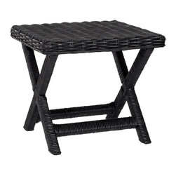 Safavieh - Safavieh Manor Bench X-B9256XOF - A casual new take on the classic X-bench, this transitional iteration of the centuries old design works beautifully with any decorating style. Crafted of Black woven Rattan seat with contrasting wrapped legs and cross bar, the Manor Bench adds pizazz in pairs in front of the bed, or for seating in family room, living room and even the master bath.