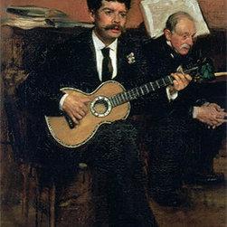 Portrait of Lorenzo Pagans and Auguste Degas | Edgar Degas | Canvas Prints - Condition: Unframed Canvas Print