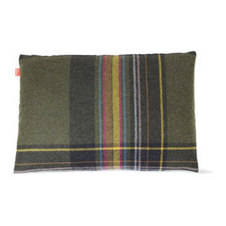 Maharam Pillow, Exaggerated Plaid - I think this is the perfect plaid.  Great for summer and winter.