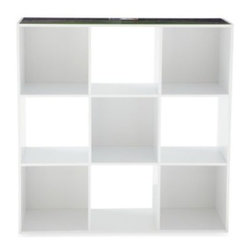 Owner's Box, Llc - MLB 9-Cube Storage Organizer - This MLB 9-Cube Storage Organizer provides a customizable storage cubby for a variety of storage needs. This organizer features a white finish with color printed sports graphics. Includes nine open-front storage compartments, perfect for any room.