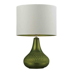 Dimond Lighting - Dimond Lighting HGTV266 HGTV Home Lime Green Ceramic Table Lamp - This lime green ceramic table lamp from Dimond Lighting is a modernized retro version of a very stylish piece in lighting design; it is made from the highest quality materials and brings great form and function to any room in your home.