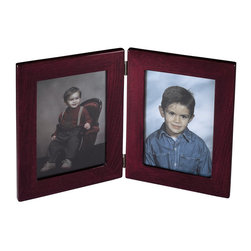 "Howard Miller - Howard Miller Rosewood Book Frame II - Howard Miller - Photo Frames - 655123 - This contemporary 2-picture frame has a warm rosewood finish and holds two 5 x 7"" photographs or plates. Closing hinge function for angle preferences and moving safely."