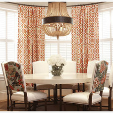 Traditional Dining Room by Curtain Works of Greenwich