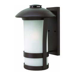 Hinkley Lighting - Hinkley Lighting 2705AR-GU24 Chandler 1 Light Outdoor Wall Lights in Anchor Bron - Chandler is a modern interpretation of the traditional gas light. A subtle nautical influence creates a transitional silhouette in die cast aluminum construction that works with a variety of exteriors.