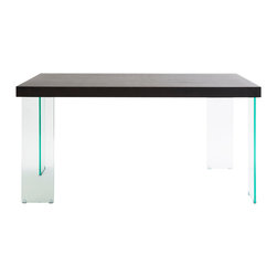 Eurostyle - Euro Style Cabrio Collection Small Dining Table in Clear/Wenge - Small Dining Table in Clear/Wenge in the Cabrio Collection by Eurostyle