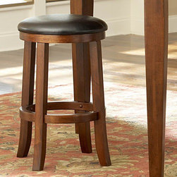 """Woodbridge Home Designs - Ameillia Counter Height Stool (Set of 2) - Alive with an exciting Arts & Crafts flair, the contemporarty style of Ameillia Collection uses smooth medium brown finish and clean line design to create an inviting atmosphere to enhance your dining experience. The contemporary design appeals to the sense with its subtle attention to details. Features: -Ameillia Collection. -Arts and Crafts movement are interpreted for modern times. -Substantial tapered legs and the birch veneer, dark oak. -Complement this simple and refined dining option. -Rectangular tables are flanked by the perfectly coordinating chair or bench option. -Dimensions: 24"""" H x 17"""" D."""