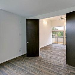 Douglas Fir Flooring - Rustic Modern wood flooring in bedroom