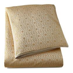 Ann Gish - King Duvet Cover - CREAM GOLD - Ann GishKing Duvet CoverDetailsMade of silk.Select color when ordering.Dry clean.Imported.