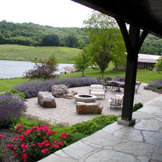 Rustic Patio by Donna F. Boxx, Architect, P.C.