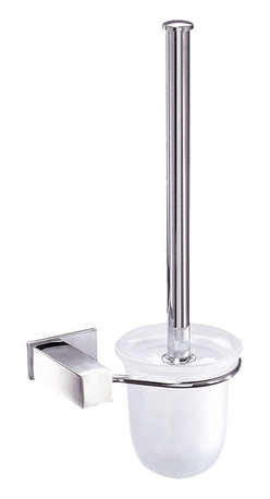 Danze - Danze D446138 Wall Mount Toilet Brush Chrome - Danze D446137 Chrome Wall Mount Toilet Brush and Holder is part of the Sirius Bath collection.  D446137 Easy to install, Wall Mount Toilet Brush and Holder has a frosted glass cup and matches faucet collection.  Mounting hardware included.