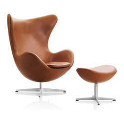 Egg Chair by Arne Jacobsen Available at Morlen Sinoway Atelier - Egg chair & ottoman