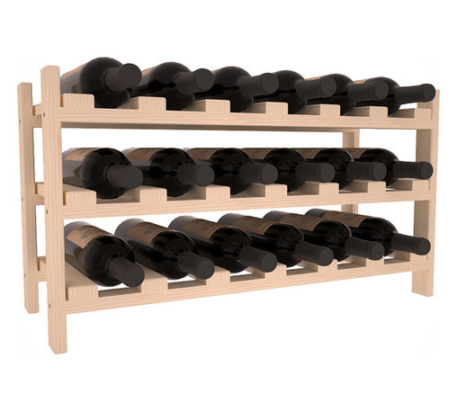Wine Racks America - 18 Bottle Stackable Wine Rack in Ponderosa Pine, (Unstained) - Expansion to the next level! Stack these 18 bottle kits as high as the ceiling or place a single one on a counter top. Designed with emphasis on function and flexibility, these DIY wine racks are perfect for young collections and expert connoisseurs.