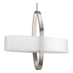 Progress Lighting - P5058-09EBWB Cuddle 2-Light Pendant with Bulb (24 In.) with Bulb Brushed Nickel - Two-light pendant with bulb with bulb