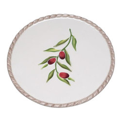 ATD - 6.38 Inch Purple Olive and Vine Garden Themed Sandwich Plate - This gorgeous 6.38 Inch Purple Olive and Vine Garden Themed Sandwich Plate has the finest details and highest quality you will find anywhere! 6.38 Inch Purple Olive and Vine Garden Themed Sandwich Plate is truly remarkable.