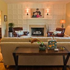 Traditional Living Room by Taste Design Inc