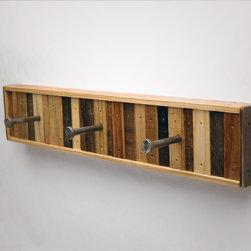 Chonko 3 Hook Coat Rack - 3 Hook Coat Rack Recycled Wood (Made to Order)