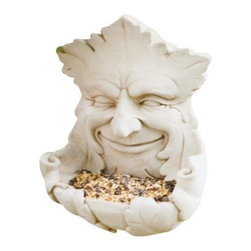 Garden Smile Birdfeeder - About Carruth StudioWe've chosen to carry Carruth Studio designs based on their integrity and authentic dedication to aesthetics. Since 1983, sculptor George Carruth has been creating whimsical images out of limestone, concrete and clay, all with one thing in common: the ability to make people smile. With a nod toward the world of nature, Carruth's signature works include a menagerie of bunnies, cats, frogs and other delightful creatures, flowers, angels, celestial bodies and magical beings. The company is located in Ohio. We think you'll find Carruth designs lovely and interesting, a perfect choice for your outdoor area.