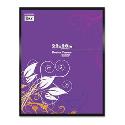 DAX - DAX Metal Poster Frames - 22 x 28 Insert - Metal, Plastic - Black - Durable poster frame offers a convenient way to display your oversized pictures, posters and most. Protective plastic cover is shatterproof. Black frame is made of metal. Back clips allow posters and prints to be mounted quickly and easily. Versatile frame includes wire for easy hanging vertically or horizontally.