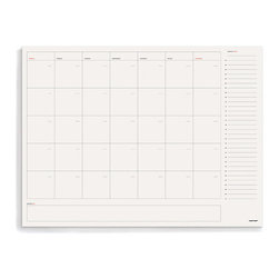 Russell + Hazel - Desktop Calendar Pad by Russell + Hazel - The large-format Calendar Pad helps you schedule your work and your life, with large calendar boxes, space for notes, and a day-by-day highlight list, one spot per day.