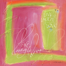 Murals Your Way - Live, Laugh, Love Wall Art - Painted by Teri Martin, the Live, Laugh, Love wall mural from Murals Your Way will add a distinctive touch to any room