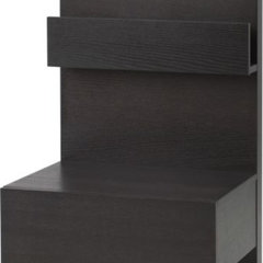 modern nightstands and bedside tables IKEA MALM Bedside table, black-brown