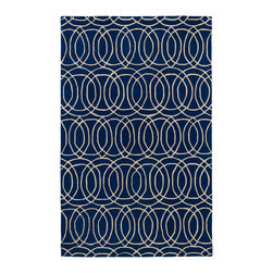Kaleen - Kaleen Revolution Collection REV02-22 2' x 3' Navy - The color Revolution is here! Trendy patterns with a fashion forward twist of the hottest color combinations in a rug collection today. Transform a room with the complete color makeover you were hoping for and leaving your friends jealous at the same time! Each rug is hand-tufted and hand-carved for added texture in India, with a 100% soft luxurious wool.