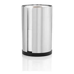 Blomus - Nexio Toilet Paper Roll Holder - Small - Hidden in plain view, this stainless steel toilet paper holder looks sophisticated, sleek and elegant, all while storing the humblest of your bathroom essentials. It's all right at hand, and easy on the eyes.