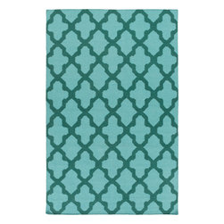 Artistic Weavers - Artistic Weavers York Olivia (Light Blue, Teal) 4' x 6' Rug - This Hand Woven rug would make a great addition to any room in the house. The plush feel and durability of this rug will make it a must for your home. Free Shipping - Quick Delivery - Satisfaction Guaranteed