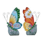 Benzara - Beautiful Butterfly Decor Beautiful and Colorful - Set of 2 - Add a dash of vibrant color to your home interiors with this beautifully crafted Butterfly Decor 2 Assorted. Sporting a fusion of vibrant colors, these decor items can bring style and liveliness to settings. Beautiful butterflies will reflect your sophisticated taste and style. This butterfly decor flaunts a distinctive design and an eye catching modern style that makes it perfect for blending in with all kinds of contemporary settings. These colorful butterfly decor pieces are crafted with intricate styling to give them an appealing look. Crafted from polystone to ensure durability and sturdiness, these decorative pieces include fine detailing for a more attractive appearance. They can be placed anywhere to add a beautiful appeal to interiors, and are perfect for homes and offices as well. Gift this to someone you love and a flood of compliments will start flowing. They will continue to delight you for years to come..