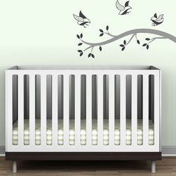 Littlelion Studio Polka Dot Birds Branch Wall Decal - Littlelion Studio Polka Dot Birds Branch Wall Decal
