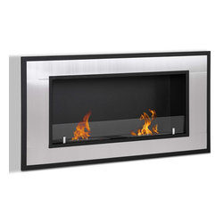 Moda Flame - Moda Flame Lugo Wall Mounted Ethanol Fireplace - The Lugo wall mounted ethanol fireplace is the ideal way to give modern design and warmth to any household. With its magnificent steel outer frame and two dual layer burners, the Lugo creates a attractive and a admirable showcase of flames in any room.