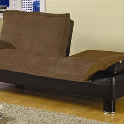 Coaster - Casual Convertible Sofa Bed (Brown) - Choose Upholstery: BrownCasual style. Plush back cushion. Pillow top seat cushion. Framed soft pillow arms. Easily drop the back cushion to convert to a bed for overnight guests. Two back seat cushions can be lowered separately. Microfiber upholstery. Black base. Round metal legs. Depth with sleeper open: 44.5 in.. Seat Height: 15 in.. Length side to side: 71 in.. Depth with sleeper open: 44.5 in.. WarrantyThis casual sofa bed will be a nice addition to your home. Make the most of your valuable space, great for apartments, condos, or spare bedroom. This multi-functional sofa bed offers comfortable lounging space by day, and a cozy bed for overnight guests. Great for small homes, apartments, condos, and dorms, a convertible sofa is just what you need to take advantage of your space, without sacrificing style.