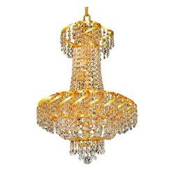 Elegant Lighting - Elegant Lighting ECA2D18G Belenus 6-Light, Two-Tier Crystal Chandelier, Finished - Elegant Lighting ECA2D18G Belenus 6-Light, Two-Tier Crystal Chandelier, Finished in Gold with Clear CrystalsElegant Lighting ECA2D18G Features: