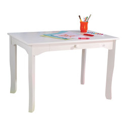 "KidKraft - Kidkraft Kids Decor Space Saver Games Activity Project Work Brighton Table White - Our Brighton Table makes playtime much easier to manage. This is an ideal table for any child activity, whether it's a school project, board game or tea party. Dimension: 35.75""Lx 23.75""Wx 24.25""H"