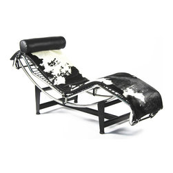 LE CORBUSIER LC4 CHAISE LOUNGE PONY HIDE - http://www.exclusivemod.com/