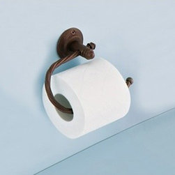 Gedy - Moka Toilet Roll Holder - Vintage style wall mounted toilet paper holder. Made of forged iron with moka finish. Wall mounted toilet roll holder made of moka lacquered forged iron. From Gedy Iberis Collection.