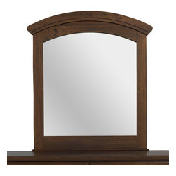 Standard Furniture - Standard Furniture Parker Arched Mirror in Golden Brown Cherry - Parker Bedroom offers the perfect solution for rooms that have a smaller footprint, yet still need lots of storage.