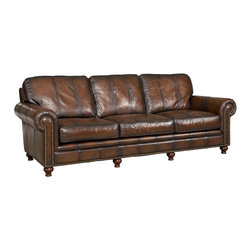 Hooker Furniture - Hooker Furniture Sarzana Fortress G/S Stationary Sofa - Developed by one of America's premier manufacturers to offer quality furniture at affordable prices. Each piece is meticulously hand-crafted using the most exquisite leathers in the world. The Sarzana Fortress G/S Stationary Sofa is crafted using Sarzana Fortress G/S (Medium Brown) leather.