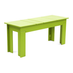 Loll Designs - Lollygagger Bench, Leaf Green - The Lollygagger Bench is part of our Lollygagger family collection and is a matched complement for the Lollygagger Picnic Table. Designed to hold two adults comfortably, this piece will also work as a standalone seat near doorways or in the garden when you just feel like listening to the birds.